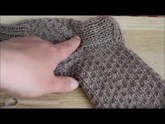 YouTube Crochet For Kids, Knit Crochet, Knitting Videos, Mitten Gloves, Knitting Socks, Fingerless Gloves, Arm Warmers, Baby Kids, Slippers