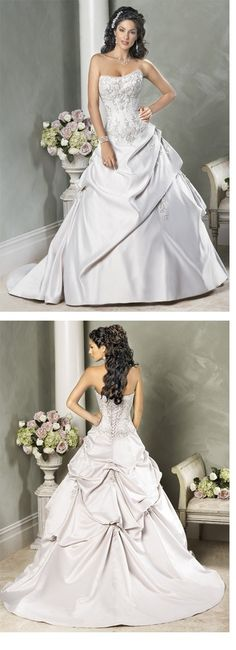 Gorgeous a-line strapless floor length dress