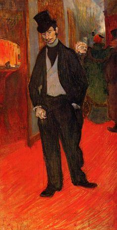 Henri de Toulouse - Lautrec - Self-Portrait ~Repinned Via Georgia Lobo