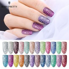 Cheap BORN PRETTY Platinum Starry Nail Gel Lacquer Colorful Bling Glitter Soak Off Long Lasting UV Gel. Click visit to check price #NailGel