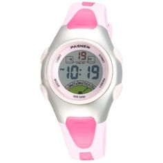 Pasnew Fashion Waterproof Children Boys Girls Digital Sport Watch with Alarm, Chronograph, Date (Pink)pse-219pink - http://www.specialdaysgift.com/pasnew-fashion-waterproof-children-boys-girls-digital-sport-watch-with-alarm-chronograph-date-pinkpse-219pink/