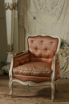 アンティーク クラシックアームソファー(ローズ)B  French Antique Arm Chair