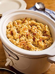 Yummy. Slow Cooker Mac and Cheese.