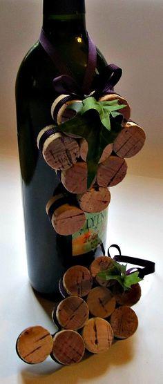 Ornamento di sughero del vino / bottiglia di LizzieJoeDesigns