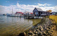 Saint Michaels CBMM (Chesapeake Bay Maritime Museum) in color.