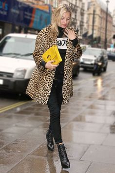 Le manteau léopard de Kate Moss #leopard #manteau #coat