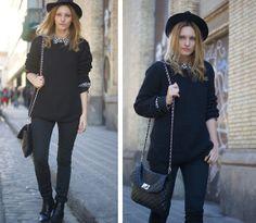 Black outfit (by Estefania  Ainoza) http://lookbook.nu/look/4601325-Black-outfit