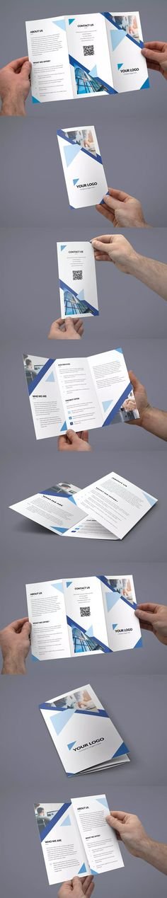 Triangle Multipurpose Tri-Fold Brochure Template PSD - A4 and US Letter Size