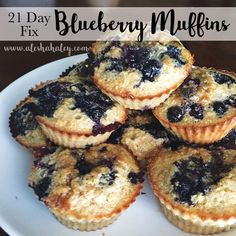 So I posted on my facebook page asking if people wanted my Banana Muffin Recipe or Blueberry Muffin recipe FIRST and HANDS DOWN blueberry was the winner! I am on my third week of my 21 day fix chal…
