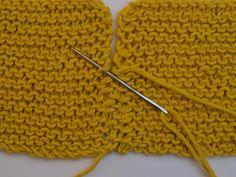 Aprende a tejer una costura invisible para punto bobo / Blog   WE ARE KNITTERS