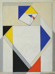 Vilmos Huszár. Composition with Female Figure. 1918