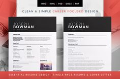 Collection Of Resume  Cv  Cover Letter Templates Stylish