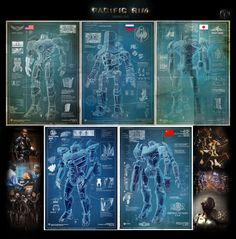 Pacific Rim - Jaegers: Gipsy Danger, Cherno Alpha, Coyote Tango, Striker Eureka, and Crimson Typhoon