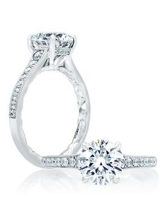 Quilted Round Engagement Ring | A. Jaffe | https://www.theknot.com/fashion/me2024q-ajaffe-engagement-ring