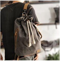 NÁPOLY SZÜRKE VÁSZON VÁLLTÁSKA- UNISEX Men's Backpack, Canvas Backpack, Cheap Backpacks, Vintage Bags, American, Luggage Bags, Travel Bags, Bucket Bag, Gym Bag