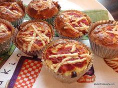 Grain-free, gluten-free, and dairy-free Pizza Muffins. Great for breakfast, lunch, or dinner! #glutenfree #grainfree #dairyfree