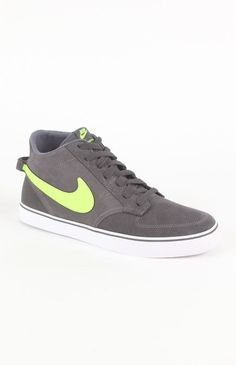 Click Image Above To Purchase: Mens Nike Shoes - Nike Braata Mid Gray Sneakers