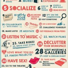 40 Ways to Stay Creative   Visual.ly