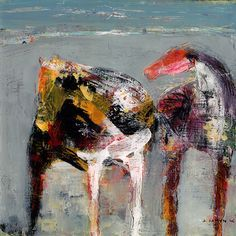"""Valentine by Dominique Samyn Print on wood (Giclee) with layer of resin ~ 12"""" x…"""