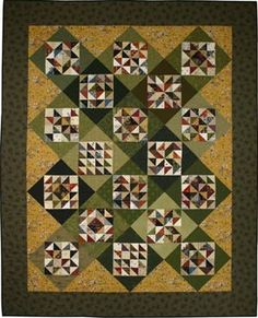 Sarah's Four-Patch Sampler Quilt