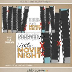 FREE Digital Scrapbooking Template / Sketch | August '20 | Sahlin Studio | Digital Scrapbooking Designs