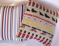 London Celebration Knitted Cushion - Folksy  http://folksy.com/items/3330022-London-Celebration-Knitted-Cushion