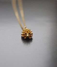 Hedgehog Gold Necklace, Pet Necklace Hedgehog Jewelry, Protective Talisman, Gifts for Teens Girls, Woodland Animal Jewelry, Gifts For Her