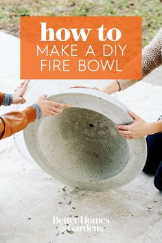 Outdoor Ideas, Outdoor Spaces, Outdoor Decor, Outdoor Living Furniture, How To Make Fire, Concrete Art, Fire Bowls, Swimming Pools Backyard, Diy Garden Projects