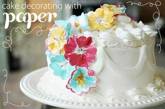 Easy way to decorate a cake for Mother's Day
