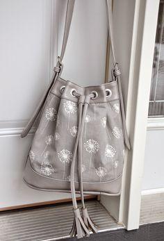 ikat bag: Bag in Grey Vinyl