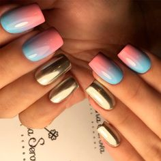 There are 21 different ways to design your gradient nails. You can try to do it yourself or share ideas to your manicurist. Enjoy something new!