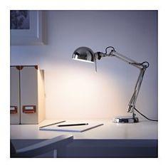 IKEA - ФОРСО, Лампа рабочая, , Обеспечивает направленное освещение для чтения.Регулируемый штатив и плафон позволяют легко измененить направление освещения.