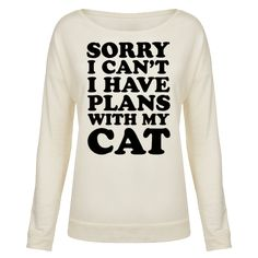 Cat Plans Pullover Sweatshirt