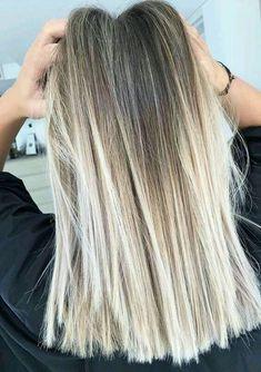 haar verven 42 Fresh blonde hair color trends for long hair 2018 - - - # for # . Cute Hair Colors, Cool Hair Color, Summer Hair Colour, Balayage Brunette, Balayage Hair Blonde Medium, Bayalage, Blonde Color, Blonde Foils, Blonde Ends