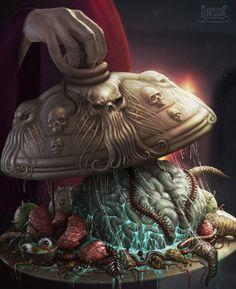 As sombrias ilustrações de terror que misturam HP Lovecraft e HR Giger de Martin de Diego Sádaba