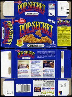 Betty Crocker - Pop-Secret Microwave Popcorn - cheese flavor NEW! - box - 1988 | Flickr - Photo Sharing!
