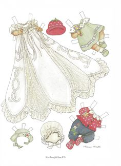 """CECIL and Her First Fancy Clothes Paper Doll by Theresa Borelli from """"Sew Beautiful"""" Magazine, Issue No. 76 May/June 2001 