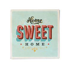 Décoration murale en métal sweet home