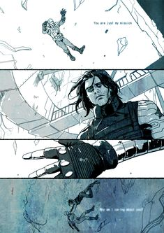 First, Steve watches Bucky fall from that train. Then when Steve falls from the helicarrier, that is when he defeats the Winter Soldier and becomes something like Bucky again.