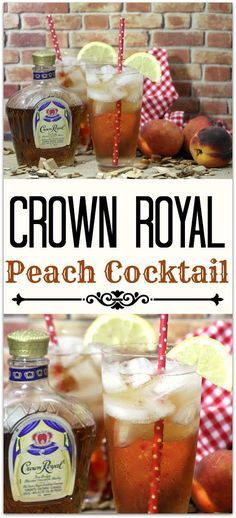 Peach Whiskey, Whiskey Cocktails, Summer Cocktails, Cocktail Drinks, Fun Drinks, Healthy Drinks, Alcoholic Drinks, Fireball Drinks, Bourbon Drinks