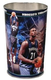 "~Minnesota Timberwolves Kevin Garnett 15"" Waste Basket~ backorder"