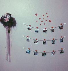 En güzeeel yerinde, durur evin. <3   #love #suprise #sürpriz #decoration #dekorasyon #süsleme #süs #home #ev #hediye #gift #fotoğraf #birthday #doğumünü #polaroid #card #hediye #sevgiliyehediye #flowers Wedding Gifts For Friends, Diy Wedding Gifts, Diy Wall Decor For Bedroom, Diy Gifts For Girlfriend, Diy Table Saw, Polaroid Wall, Photo Deco, Wedding Coasters, Diy Dog Treats
