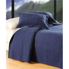 Denim Cotton Filled Prewased Solid Color Quilted Matelesse Quilt