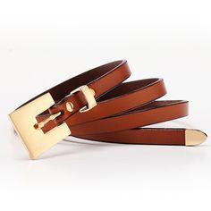 2015 Genuine leather Belt for women Fashion Luxury Designer Women belt Square Big Pin Buckle Candy Dress belt Himunu