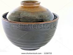 Japanese ceramic bowl with lid