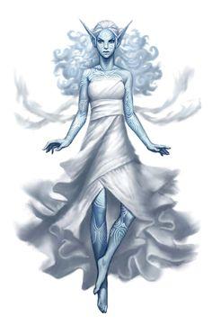 Female Sylph Sorcerer - Pathfinder PFRPG DND D&D d20 fantasy