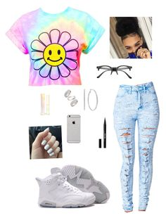 """""""Flowers """" by jay-christina on Polyvore featuring Topshop, Stila, Sigma Beauty, women's clothing, women's fashion, women, female, woman, misses and juniors"""