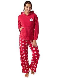 4d875c736f Ladies Warm Supersoft Fleece Hedgehog Print Pyjama with Hood Magenta 10 12  UK. Fleece PajamasPajamas WomenPajama SetNight ...