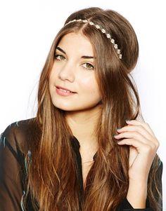 New Look Enamel Daisy Elastic Headband