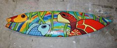 Color Sea Turtle Surfboard. Would be a nice mosaic design.
